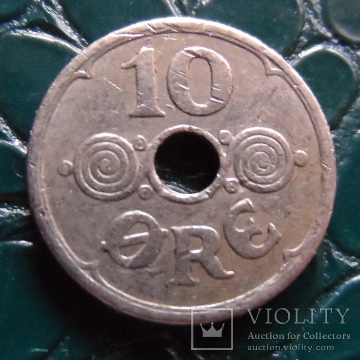 10 эре 1939  Дания    (Э.1.22)~, фото №3