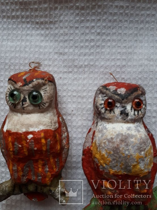 Елочная игрушка две совы филина цена за оба, фото №4