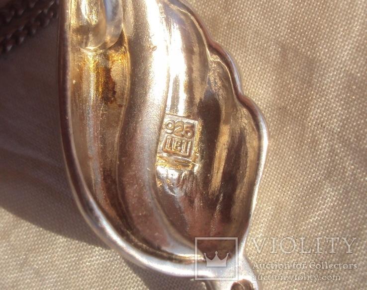 Фирменный кулон, серебро, камни., фото №10