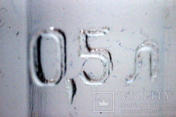 Пивной бокал  (пивная кружка) САЗ. 1966 год. 0,5 литра.20  прямых граней, фото №10