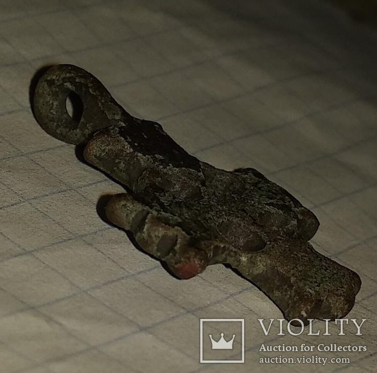 Крест К.Р. (Криновидный, с солярными знаками прорезной) 10-11век, фото №12