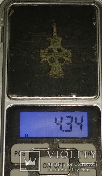 Крест К.Р. (Криновидный, с солярными знаками прорезной) 10-11век, фото №13