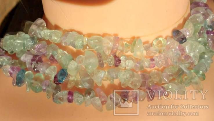Ожерелье из натуральных камней 1,6 м. 132,7 грм., фото №2
