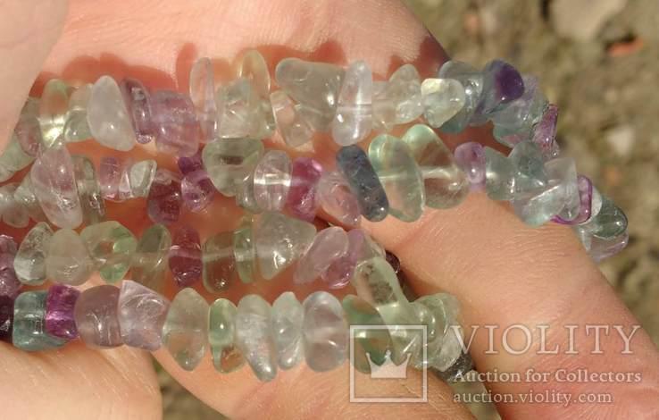 Ожерелье из натуральных камней 1,6 м. 132,7 грм., фото №8