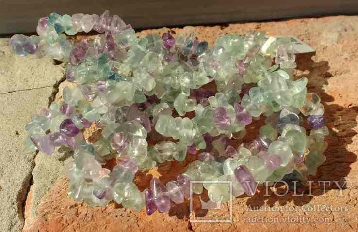 Ожерелье из натуральных камней 1,6 м. 132,7 грм., фото №9