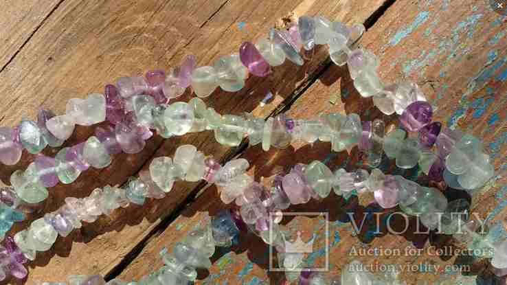 Ожерелье из натуральных камней 1,6 м. 132,7 грм., фото №10