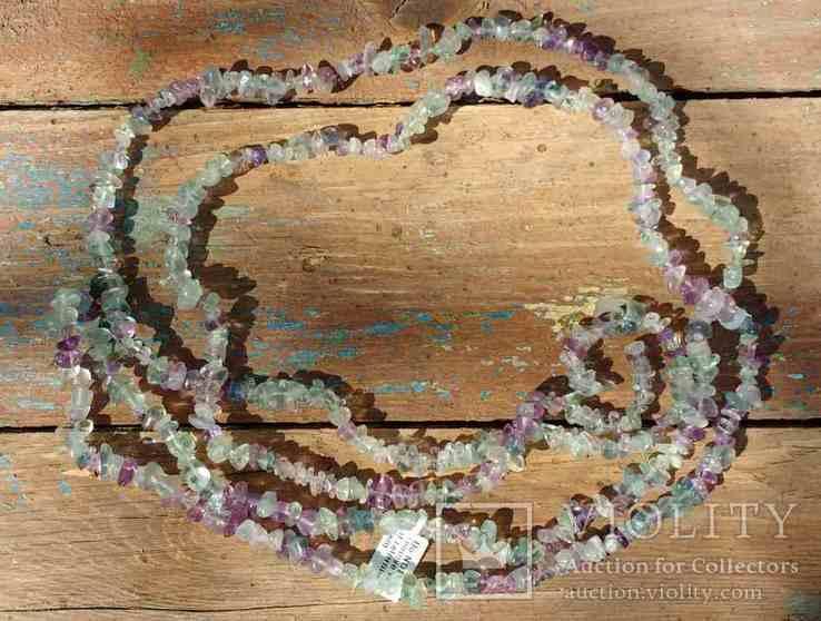 Ожерелье из натуральных камней 1,6 м. 132,7 грм., фото №11
