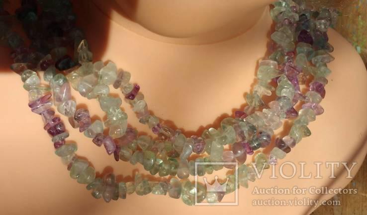 Ожерелье из натуральных камней 1,6 м. 132,7 грм., фото №12