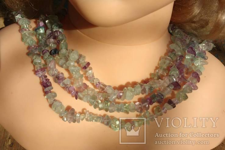 Ожерелье из натуральных камней 1,6 м. 132,7 грм., фото №13