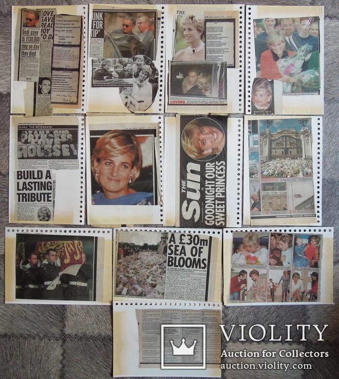 Оригиналы вырезки из британских газет 1997 год. смерть принцессы Дианы, фото №2