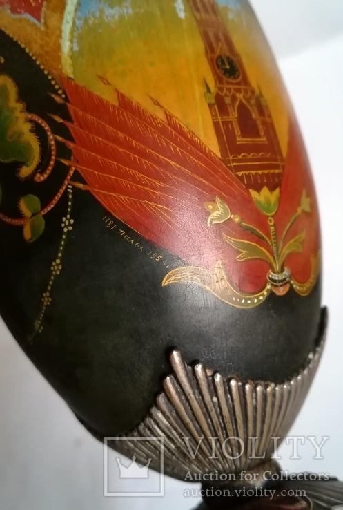 Кубок Кремль Палех Авторская роспись М. Парилов 1953г, фото №4