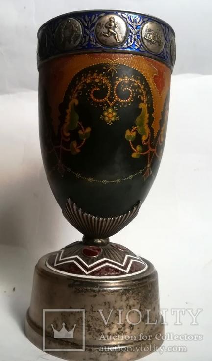 Кубок Кремль Палех Авторская роспись М. Парилов 1953г, фото №7