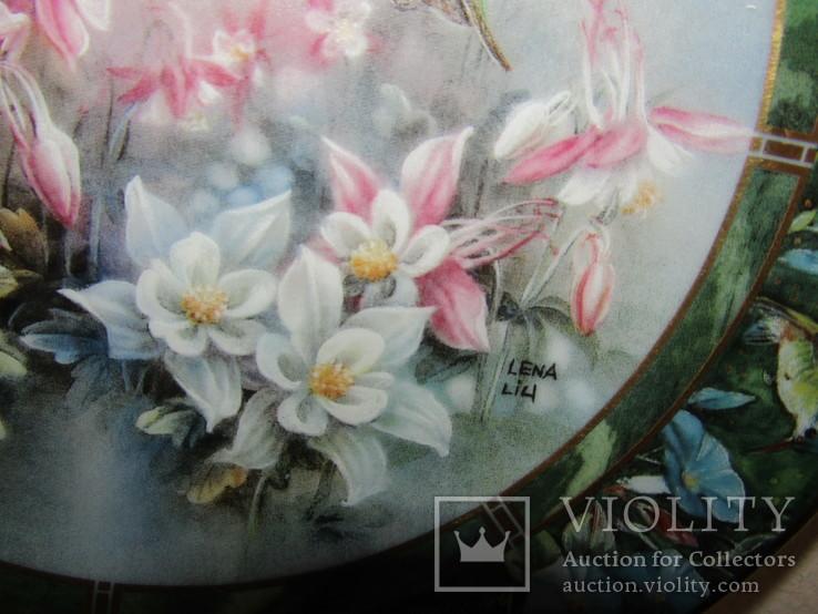 Настенная декоративная тарелка фарфор Колибри Lena Liu's, фото №5