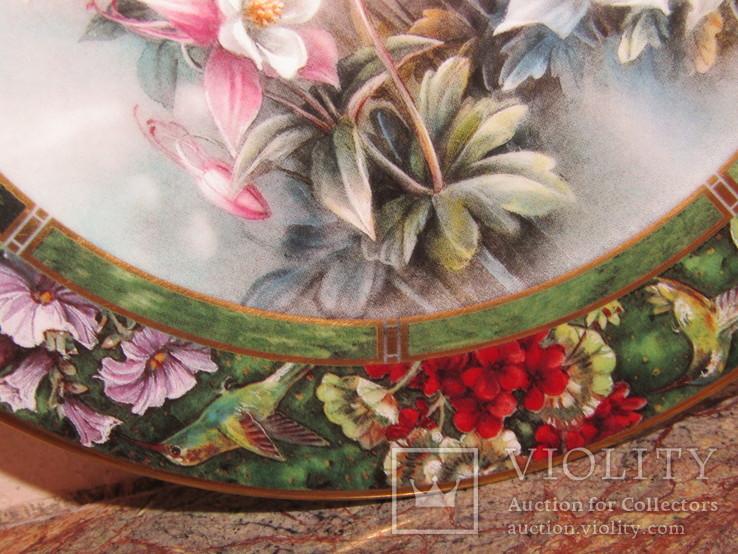 Настенная декоративная тарелка фарфор Колибри Lena Liu's, фото №7