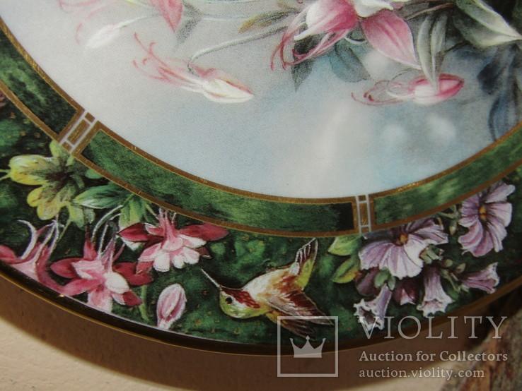 Настенная декоративная тарелка фарфор Колибри Lena Liu's, фото №8