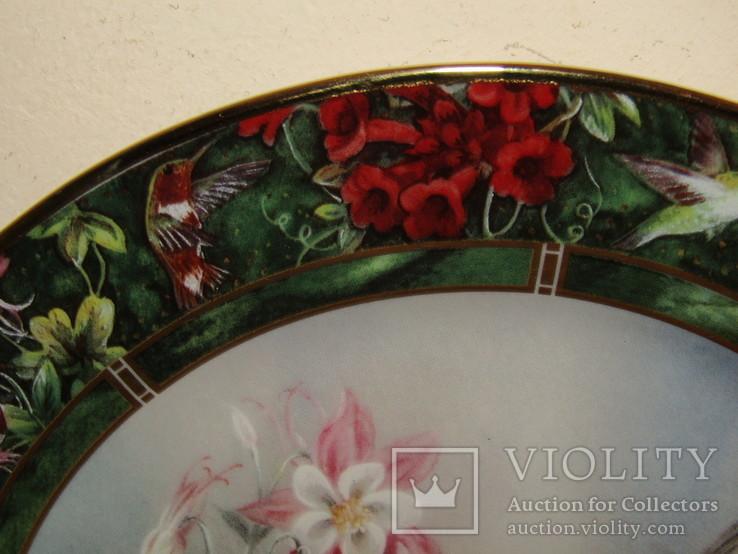 Настенная декоративная тарелка фарфор Колибри Lena Liu's, фото №9