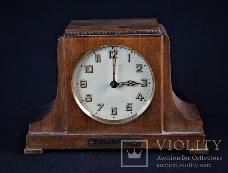 Часы будильник старинные кабинетные настольные I.Klubpreis Германия