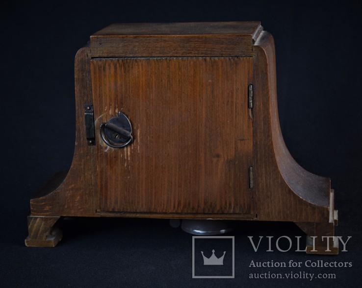 Часы будильник старинные кабинетные настольные I.Klubpreis Германия, фото №7