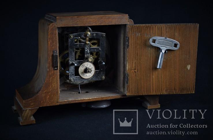 Часы будильник старинные кабинетные настольные I.Klubpreis Германия, фото №10