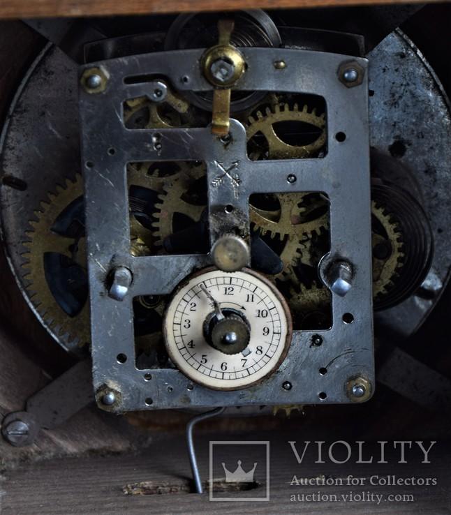 Часы будильник старинные кабинетные настольные I.Klubpreis Германия, фото №11