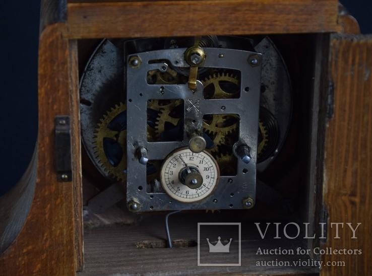 Часы будильник старинные кабинетные настольные I.Klubpreis Германия, фото №12