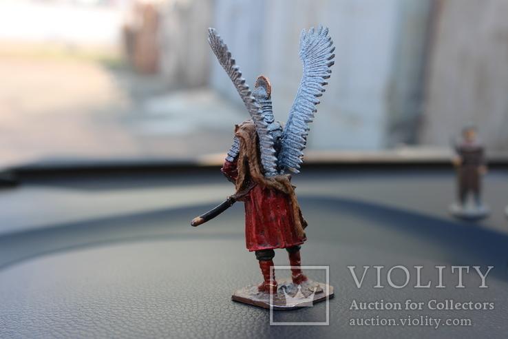 "Воїн з крилами ""штам М 132"" 8 см. висота. 91 гр. вага., фото №7"