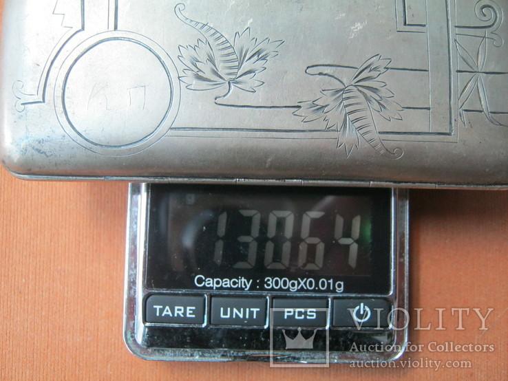 Портсигар серебро 84., фото №11