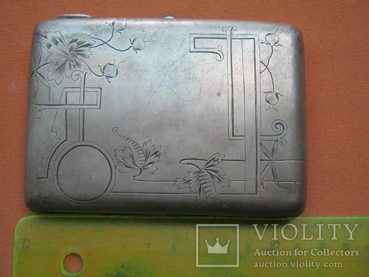 Портсигар серебро 84., фото №12