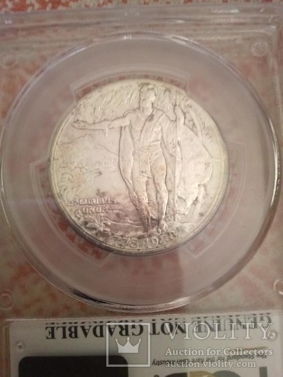 50 центов 1928 памятная США,Гавайи, фото №5