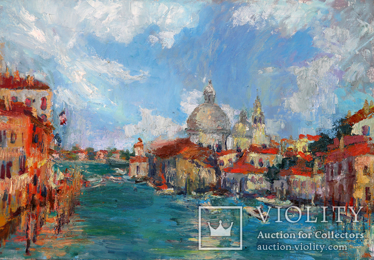 Венеция. 70Х100 см.