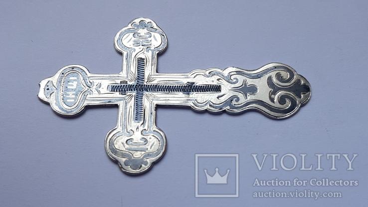 Крест нательный серебро 84 проба. Чернь, штихель. В реставрацию. Вес 5.76., фото №4