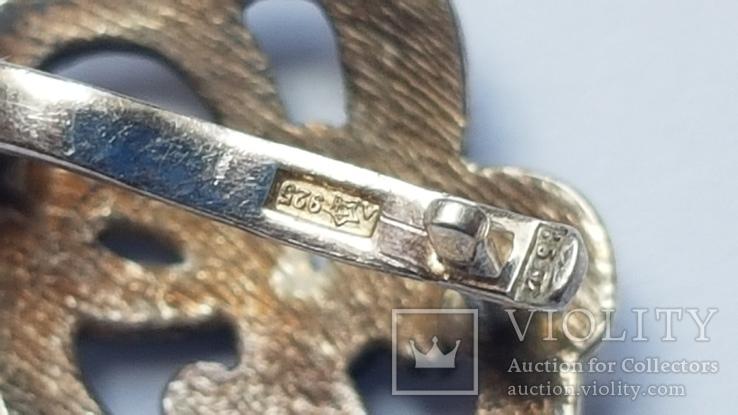 Советский набор. Серебро 925 проба. Размер кольца 18. Вес 10.66 г., фото №5
