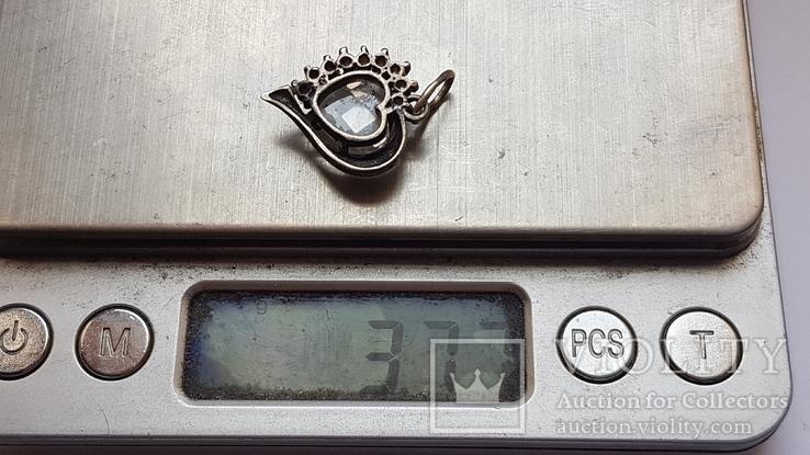 Кулон серебро 925 проба. Вес 3.73 г, фото №7