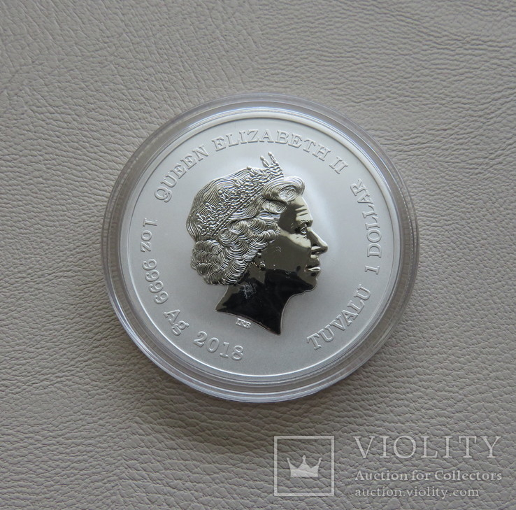 Айрон мэн Iron Man марвел серебро 9999` 31.1г Тувалу, фото №3