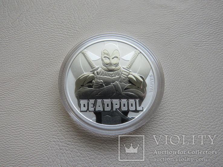 Дэдпул Deadpool серебро 9999` 31.1г Тувалу 2018г, фото №2