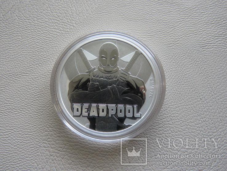 Дэдпул Deadpool серебро 9999` 31.1г Тувалу 2018г, фото №3
