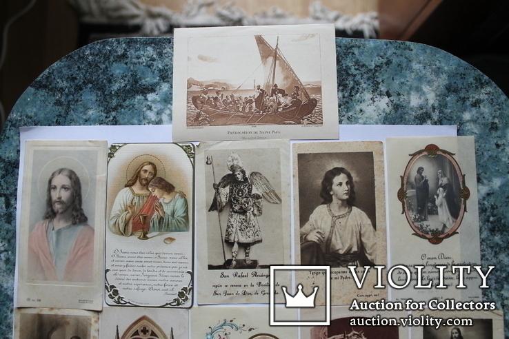 Сувенирные религиозные открытки Европа. Одним лотом, фото №3