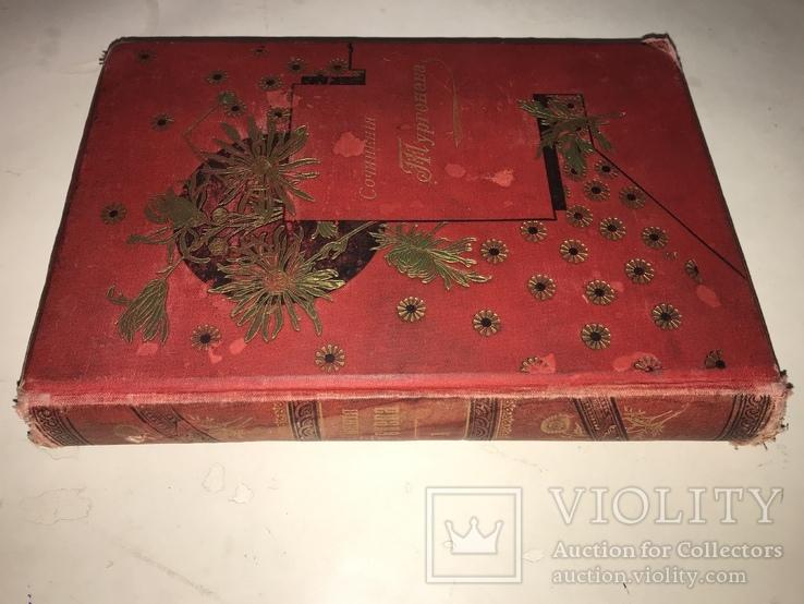 1891 Записки Охотника в одной книге Красивый Переплёт