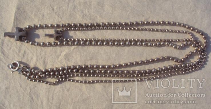 Цепочка перлина жемчужина 925., фото №4