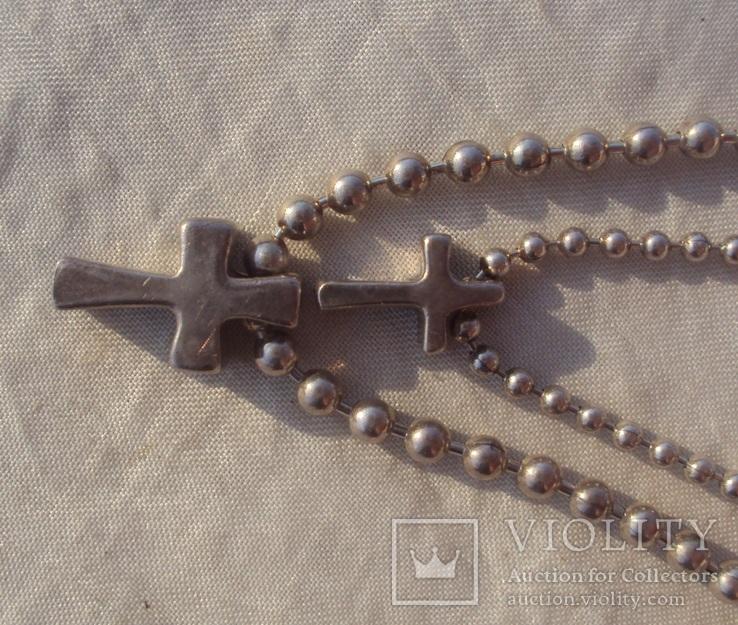 Цепочка перлина жемчужина 925., фото №5