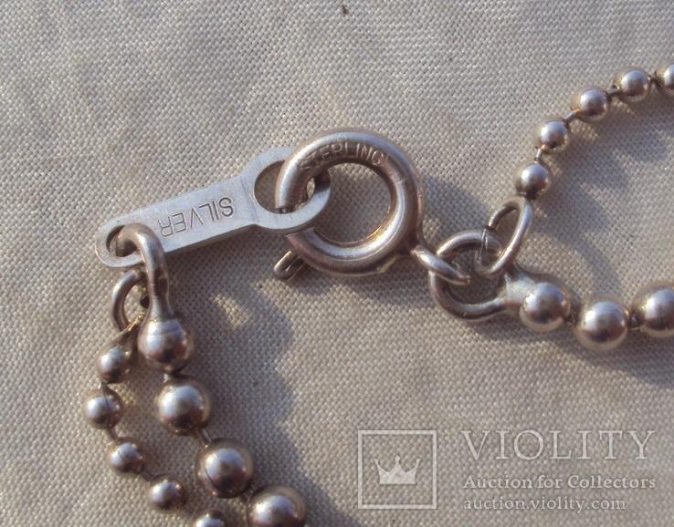 Цепочка перлина жемчужина 925., фото №7
