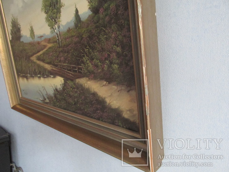 Германия, Пейзаж холст, масло,  подпись, фото №8