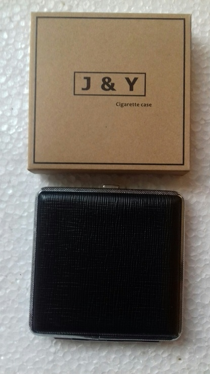 Портсигар J&Y 3985 металл/искуств.кожа