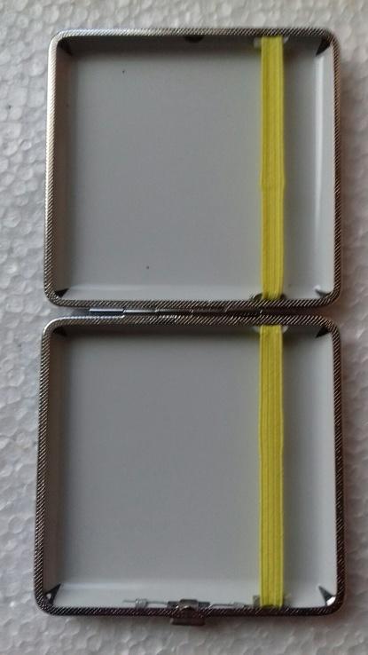 Портсигар J&Y 3985 металл/искуств.кожа, фото №4