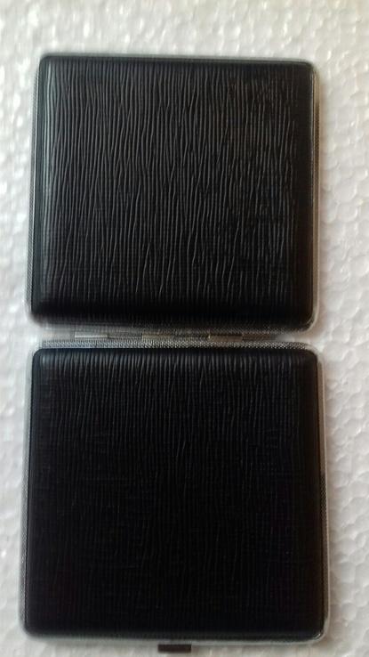 Портсигар J&Y 3985 металл/искуств.кожа, фото №5