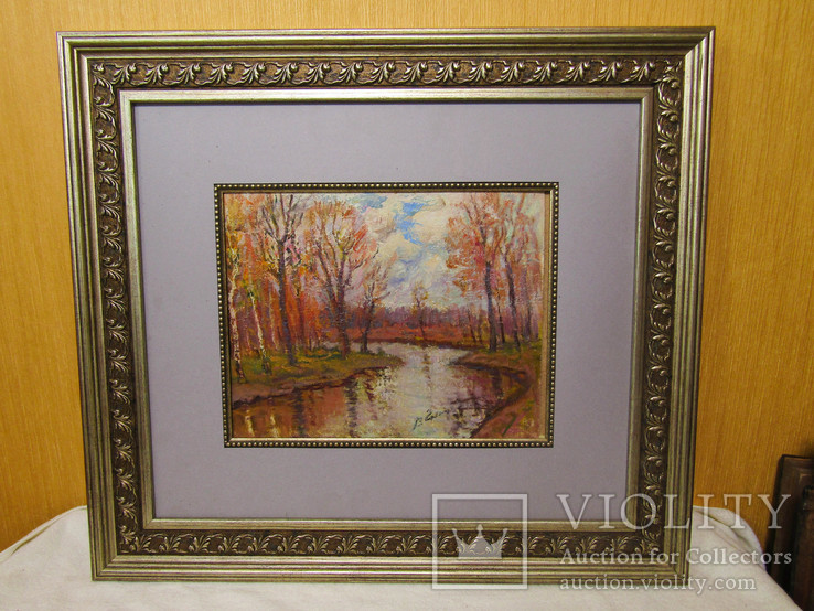Картина Осінь на річці Коломие 2002г. В.Гнипа