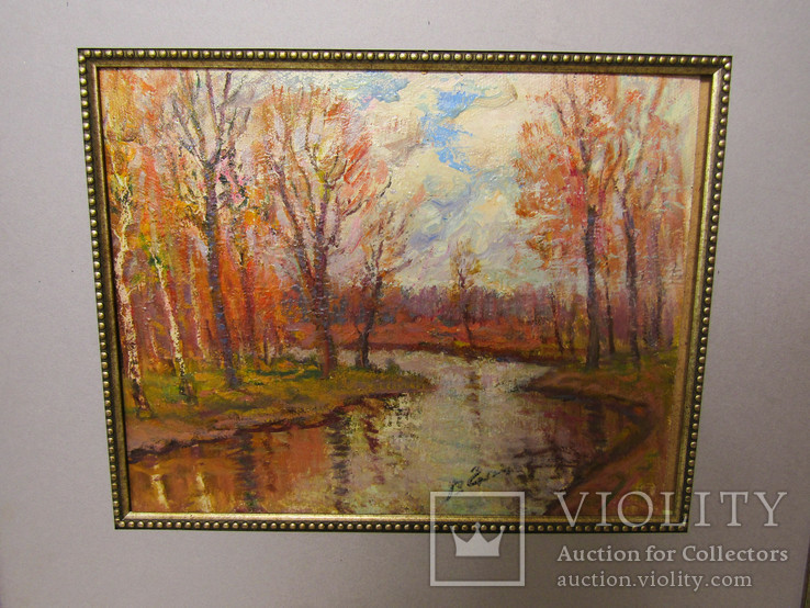 Картина Осінь на річці Коломие 2002г. В.Гнипа, фото №3