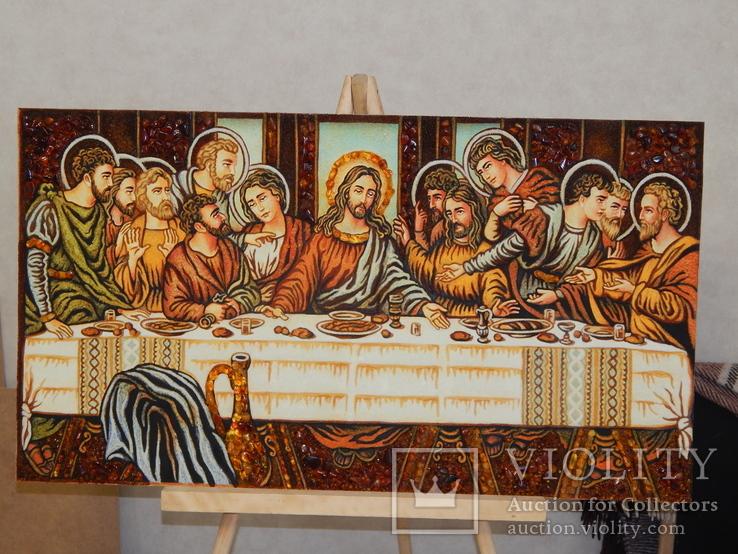 Икона из янтаря Тайная Вечеря, фото №3