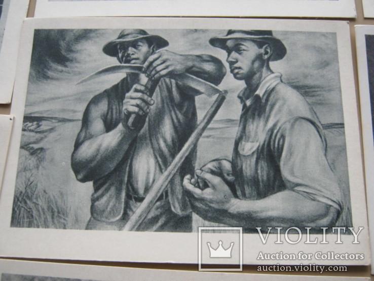 Набор открыток Скульптура и графика США, фото №6