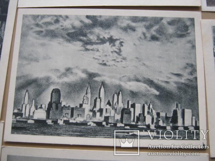 Набор открыток Скульптура и графика США, фото №7